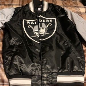 Large raiders original starter jacket brand new